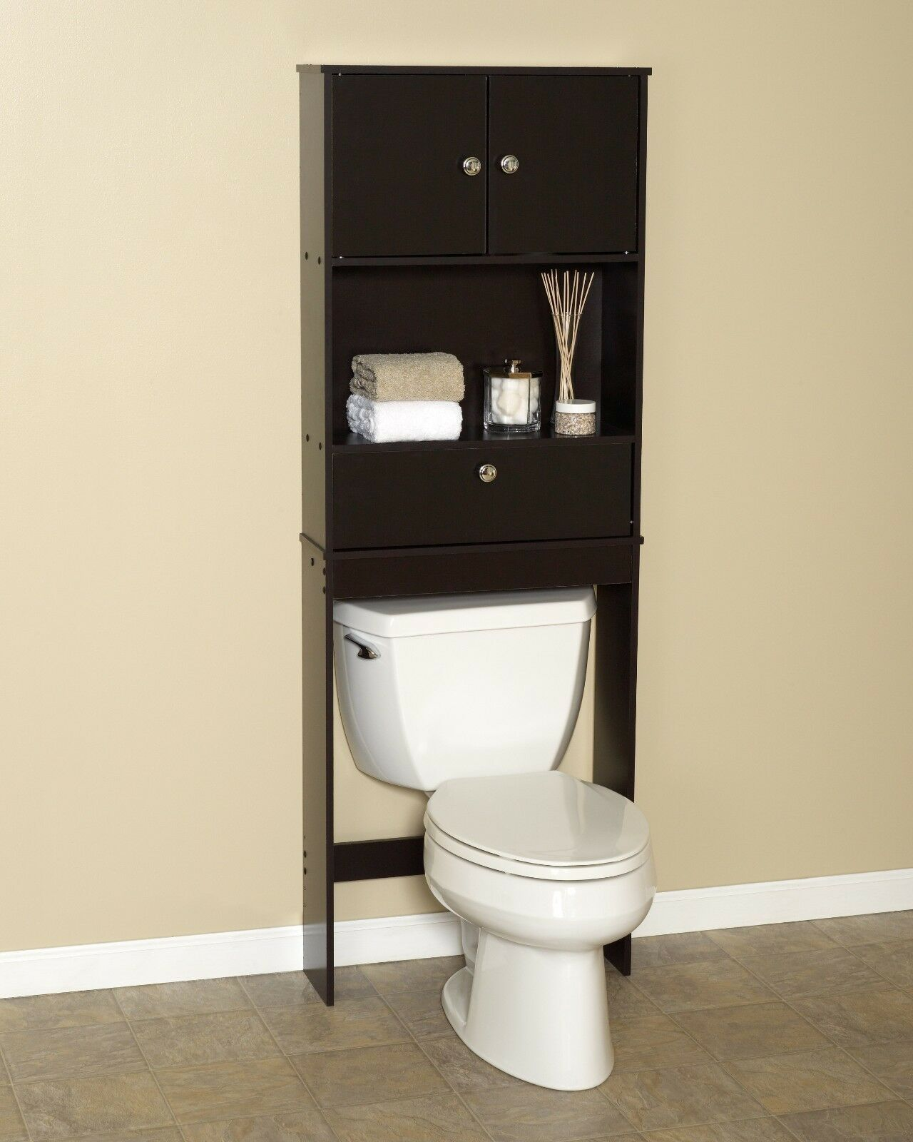 zenith drop door spacesaver cabinet over the toilet bathroom space saver. Black Bedroom Furniture Sets. Home Design Ideas