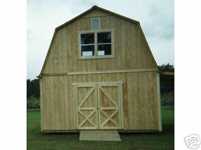 Two story barn style shed plans picclick for Two story shed plans free