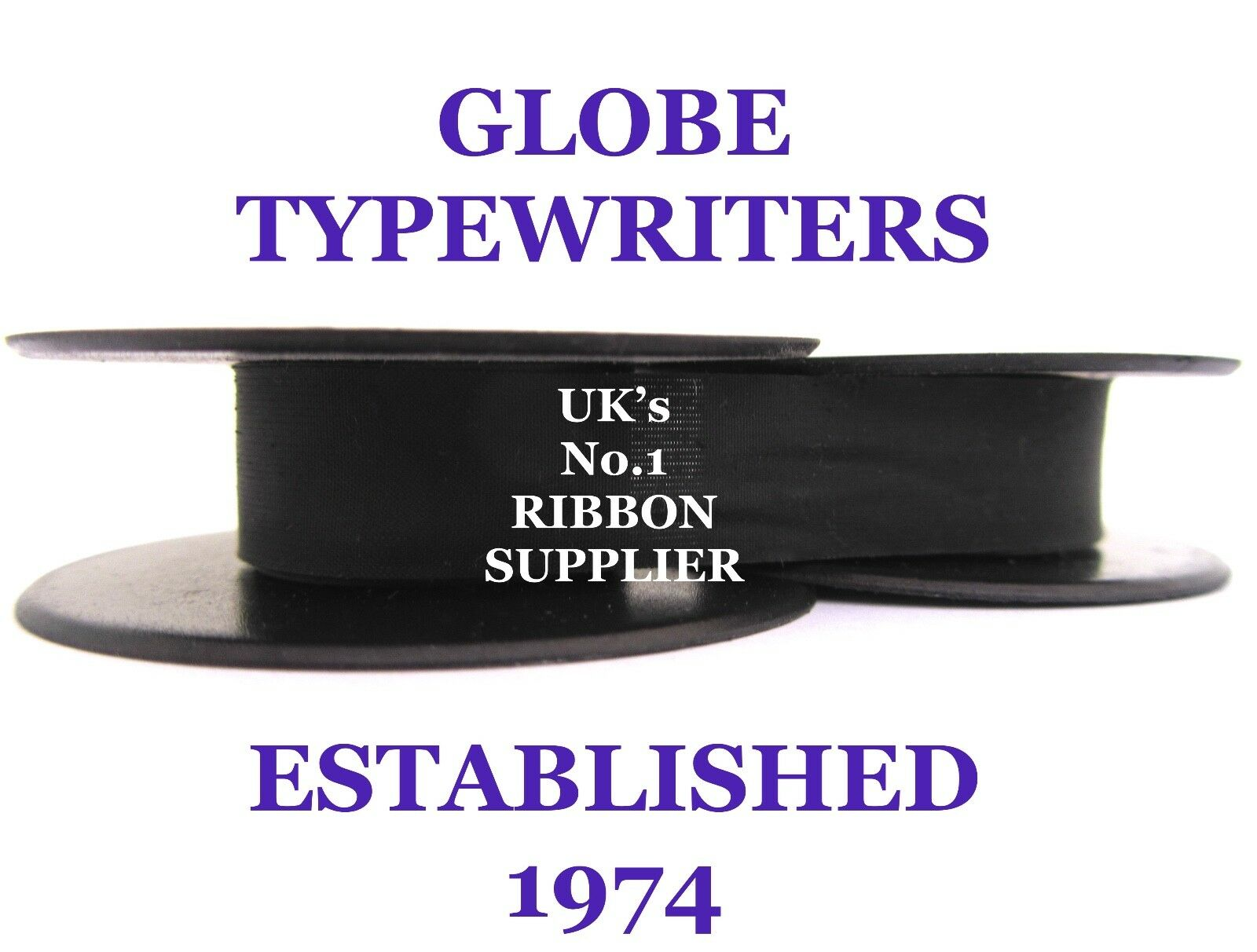 'silver Reed Sr280' *purple* Top Quality *10 Metre* Typewriter Ribbon+Eyelets