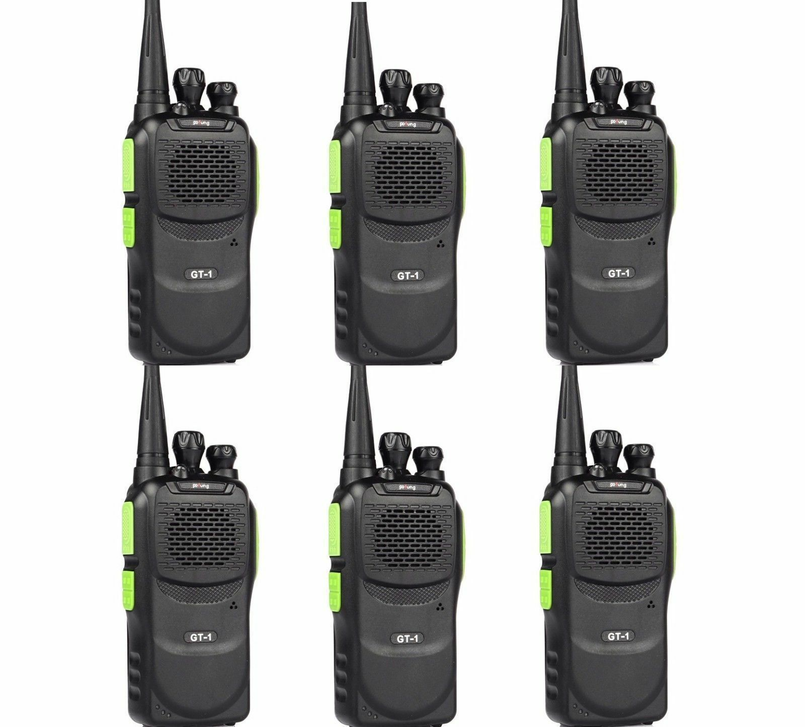 6x Baofeng Gt 1 Uhf 400 470mhz Two Way Ham Radio 5w Fm Walkie Talkie Ht 3tp Dual Band Mark Iii Of 11free Shipping