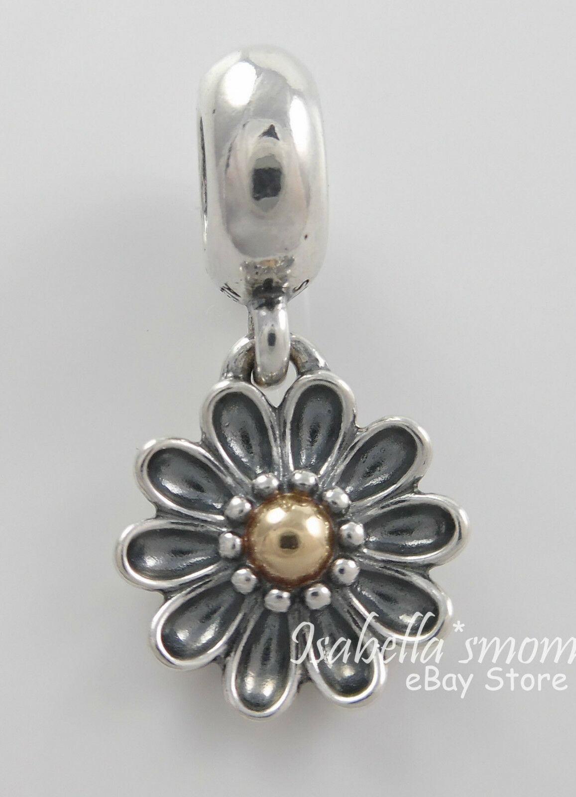 Oopsie Daisy Authentic Pandora Silver14k Gold Two Tone Flower