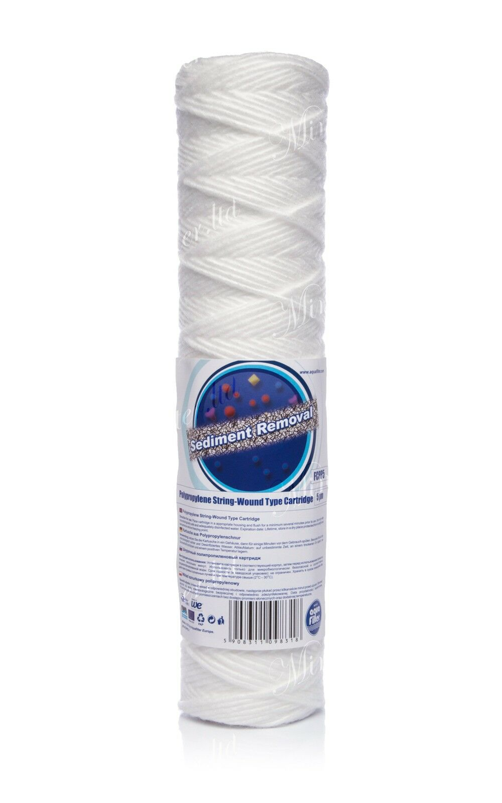 """5 micron sediment filter string-wound 10"""",water filter,Reverse osmosis,RO."""