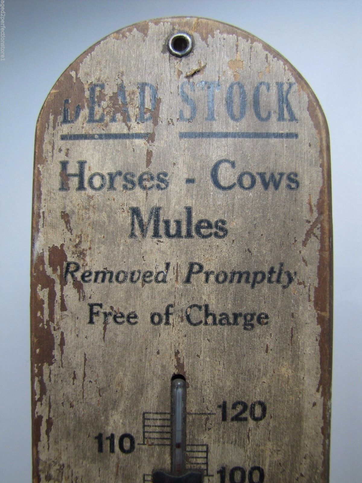 Antique DEAD STOCK Horses Cows Mules Removed Thermometer Pittsburgh Melting Pa