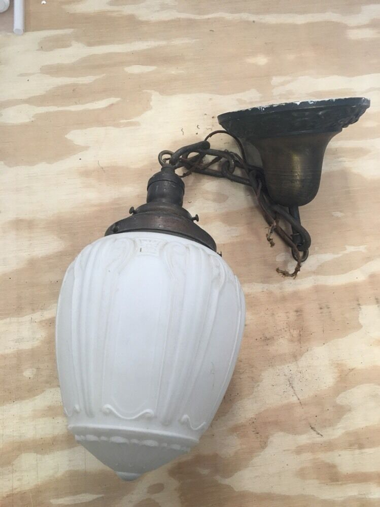 Antique Art Deco Sconce Chandler Acorn Works light