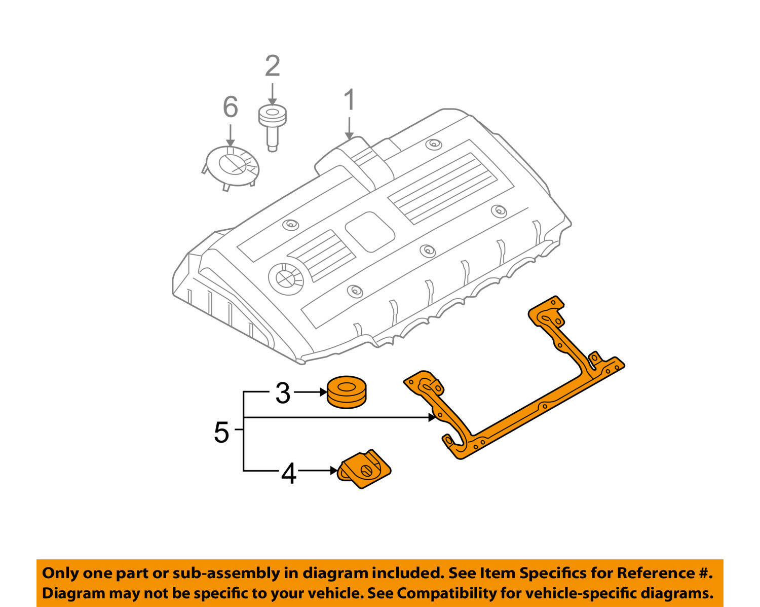 L6 Engine Diagram Wiring Data Schematic L33 Bmw Oem 06 08 Z4 3 0l Coil Cover Bracket 11127531558 Rh Picclick Com