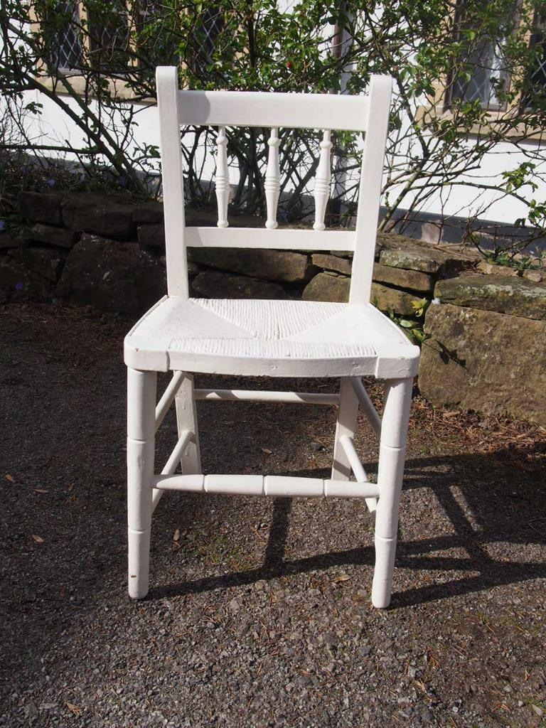A Very Sweet Little Antique Painted Edwardian Era Childs Chair Shabby Chic Style