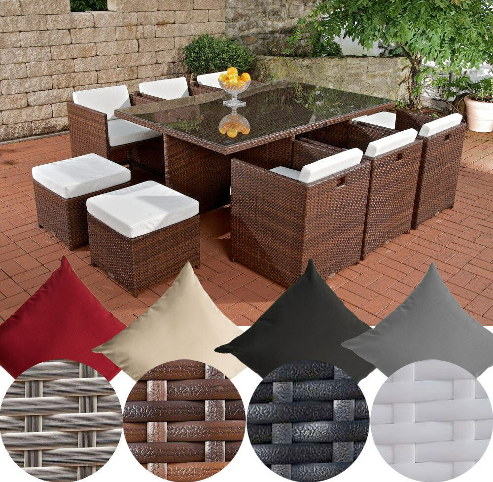 sitzgruppe maui gartengarnitur gartenm bel terrassenm bel rattan essgruppe alu eur. Black Bedroom Furniture Sets. Home Design Ideas