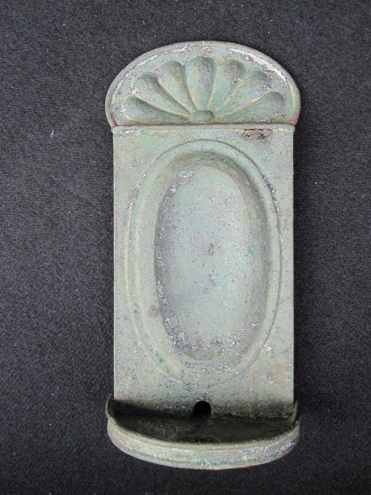 Antique Early American Copper Candle Sconce Last Long Island Ny Origin Decorate