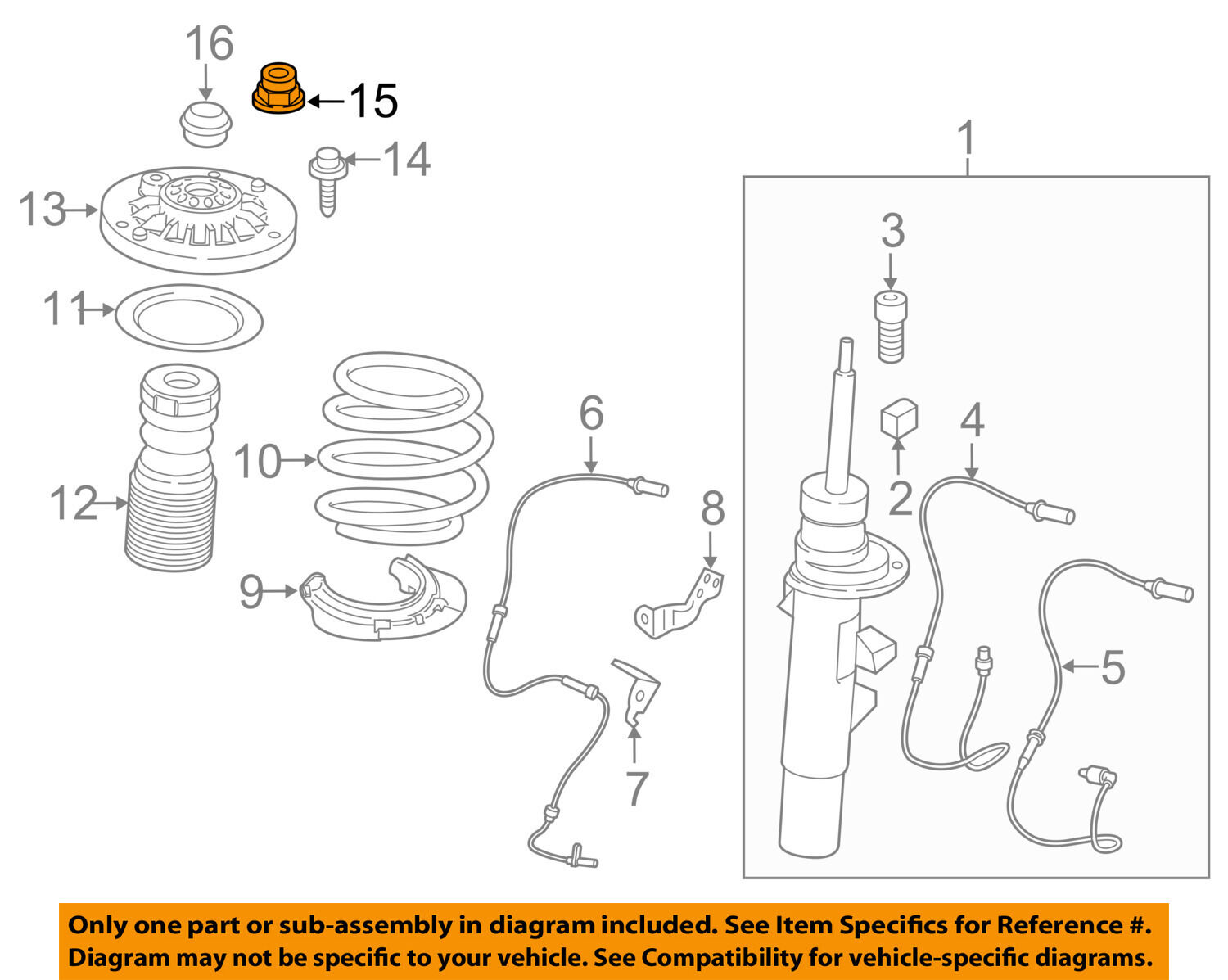 BMW Oem 1117 X3 Rear Suspensionguide Support Nut 33326760368. 1 Of 2free Shipping. BMW. BMW X3 Suspension Diagram At Scoala.co