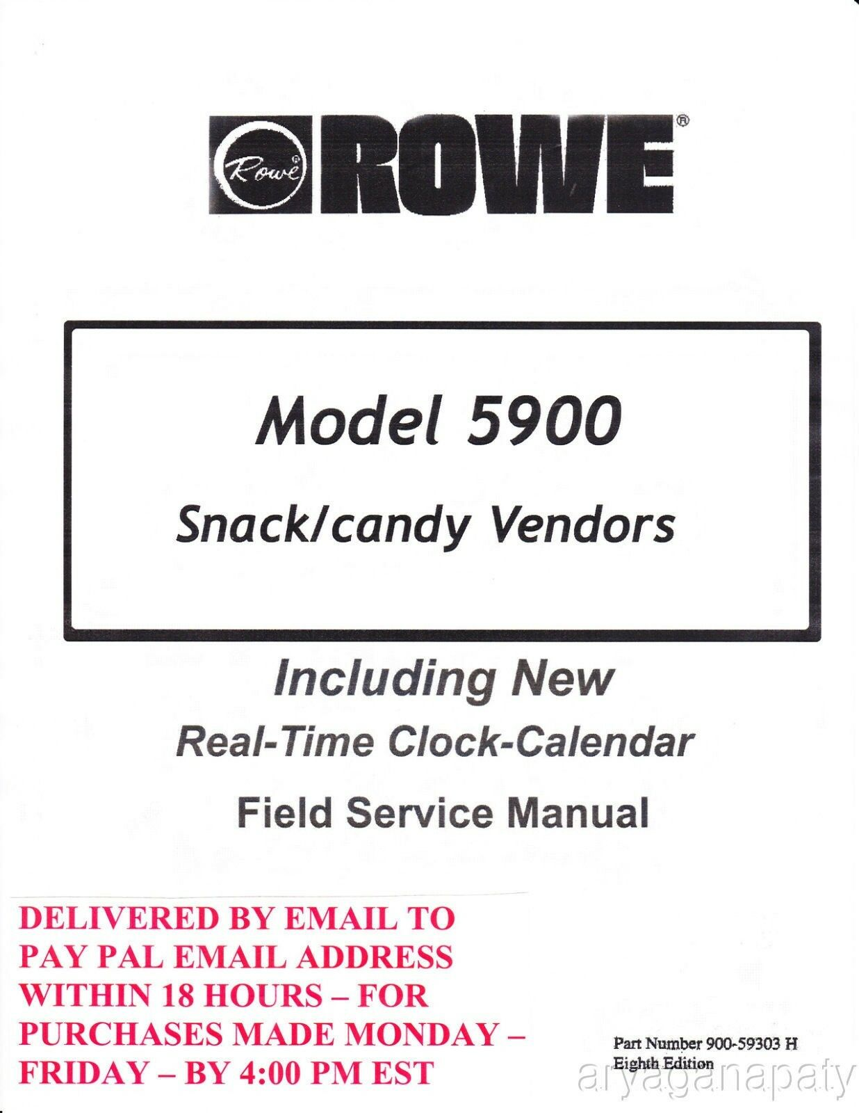 rowe 5900 field service manual and parts 90 pages pdf sent by rh picclick com field service manual subaru xv field service manual lightsaber
