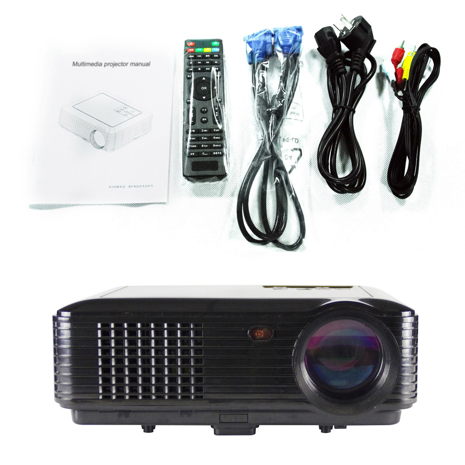 New 3d smart portable business projector full hd 1080p led for Best portable smart projector