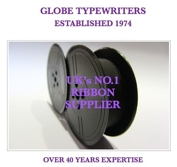 1 x 'IMPERIAL CONCORD' *PURPLE* TOP QUALITY *10M* TYPEWRITER RIBBON + EYELETS