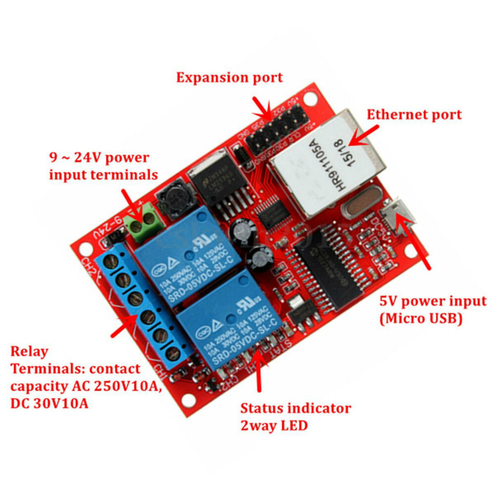 Relay Board 2 Way Lan Ethernet Network Delay Switch Tcp Udp Using 1 Of 10only 5 Available Controller Module