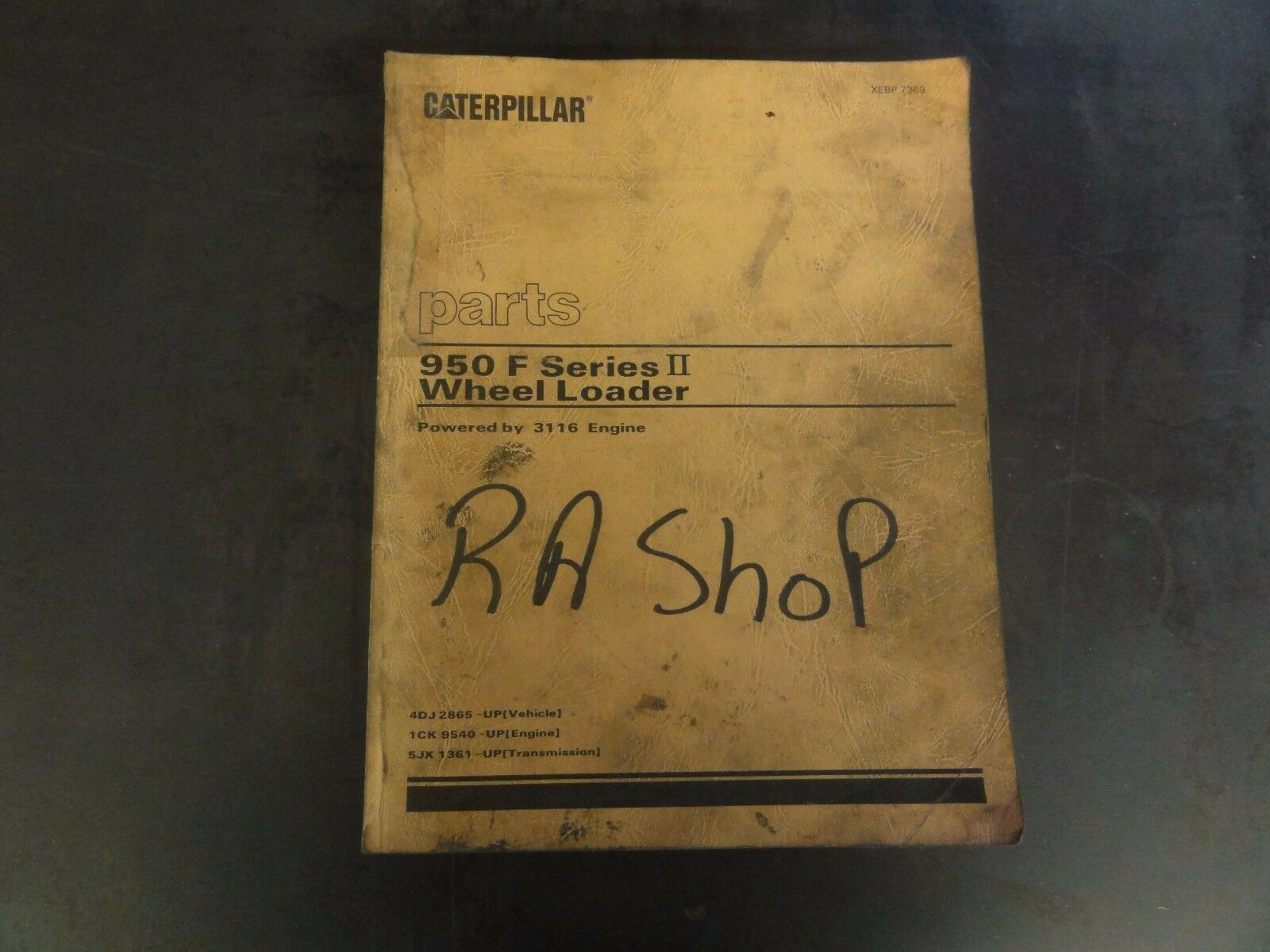 Caterpillar CAT 950 F Series II Wheel Loader Parts Manual 4DJ XEBP7369 1 of  7Only 2 available ...