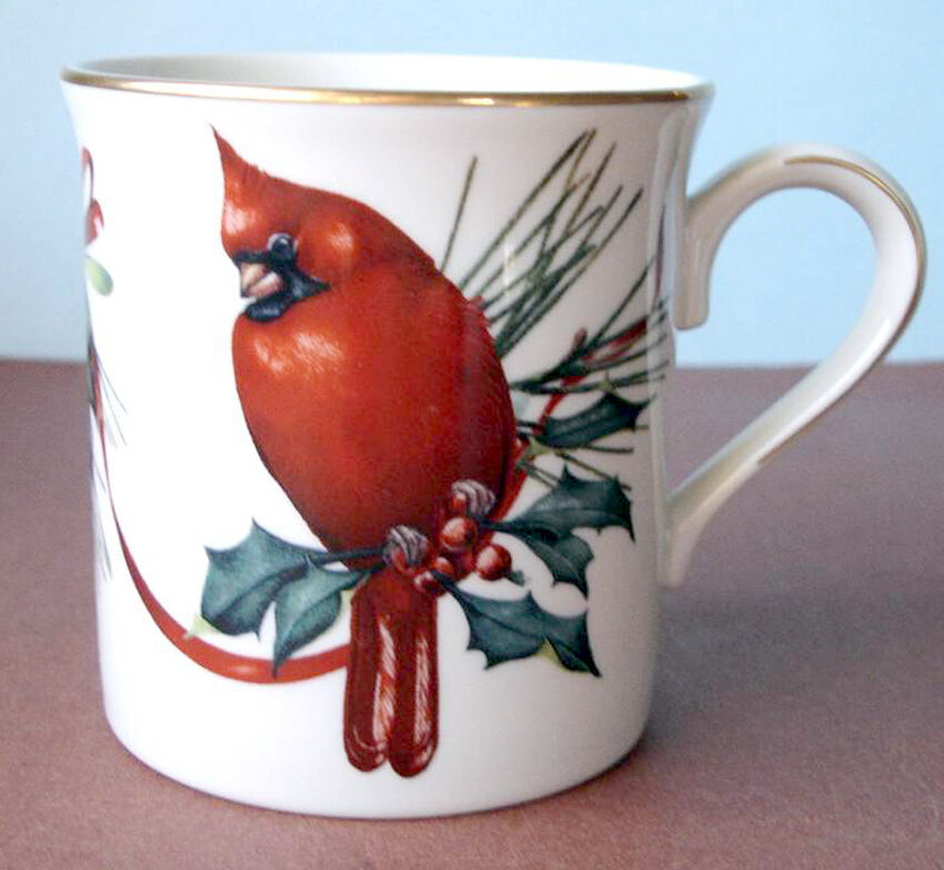 Lenox winter greetings coffee mug red cardinal bird new 2390 lenox winter greetings coffee mug red cardinal bird new 1 of 2only 4 available m4hsunfo