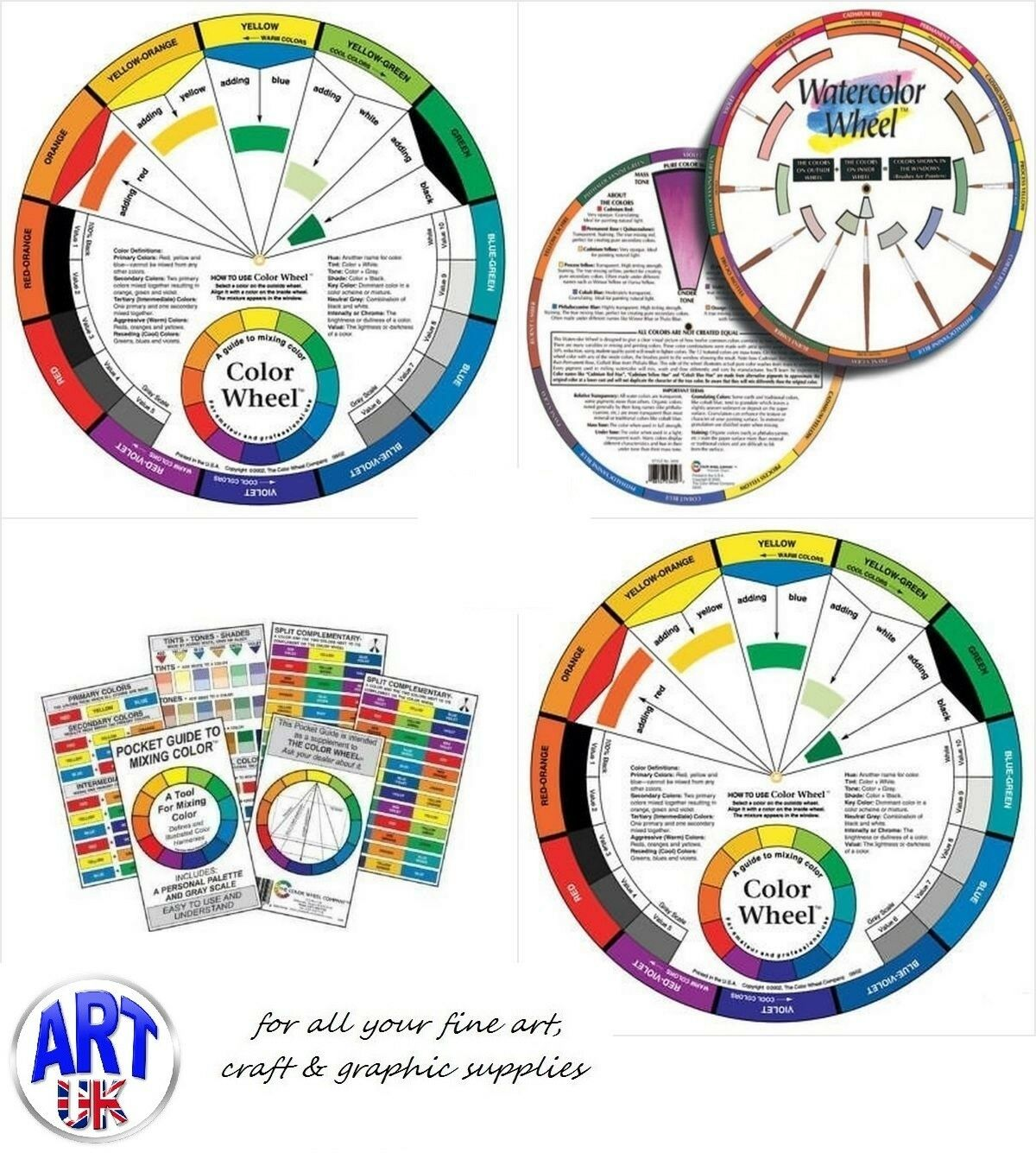Artists Colour Wheel Mixing Guide For Paint Pastel Pencil Interior Click Here Non Harmonized Colours 1 Sur Voir Plus