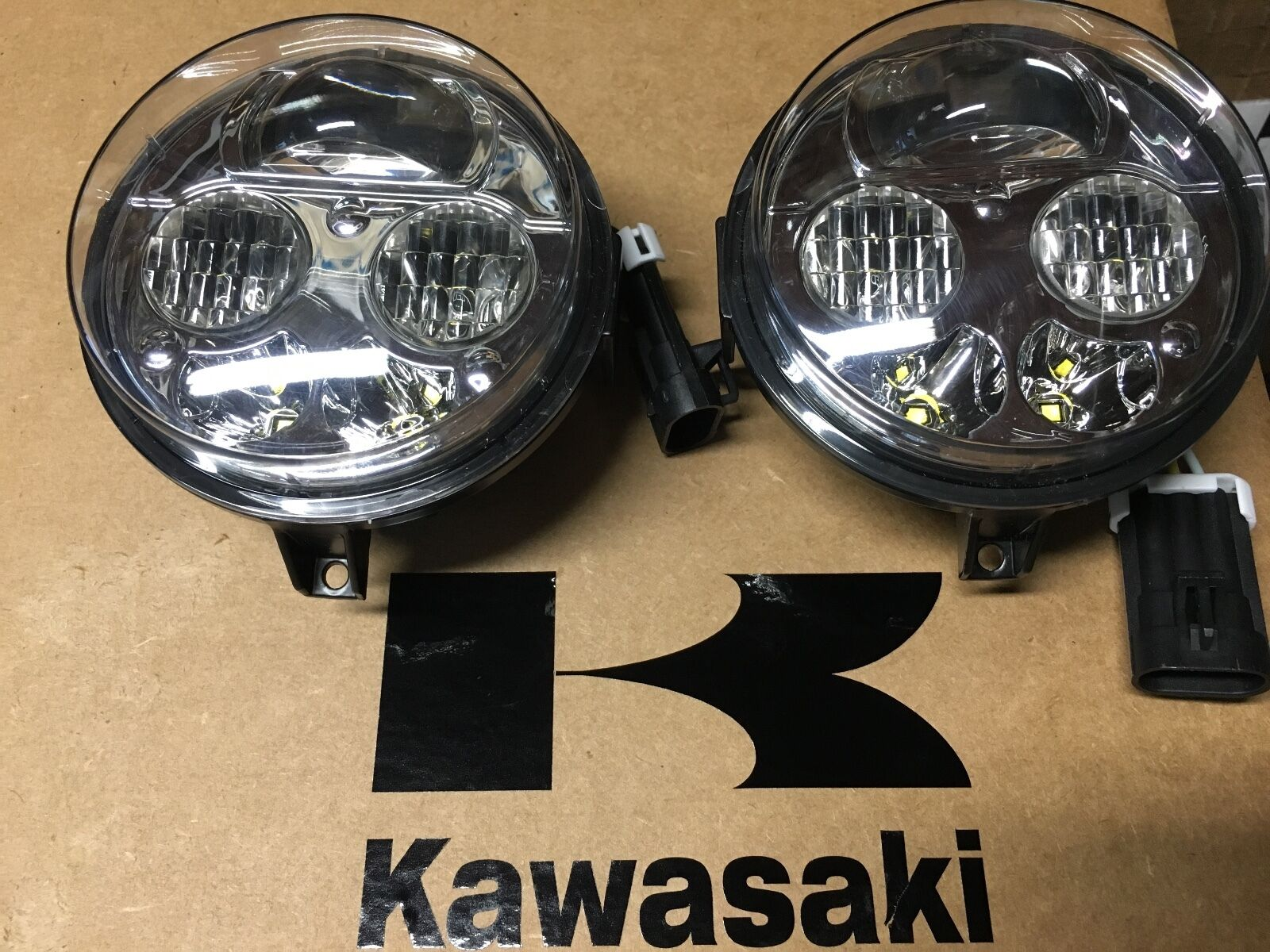 12 18 Kawasaki Brute Force 750 Led Headlights Conversion Kit Pair 3x3 Fog Light Installledrockerswitchdiagramjpg 1 Of 12only 0 Available