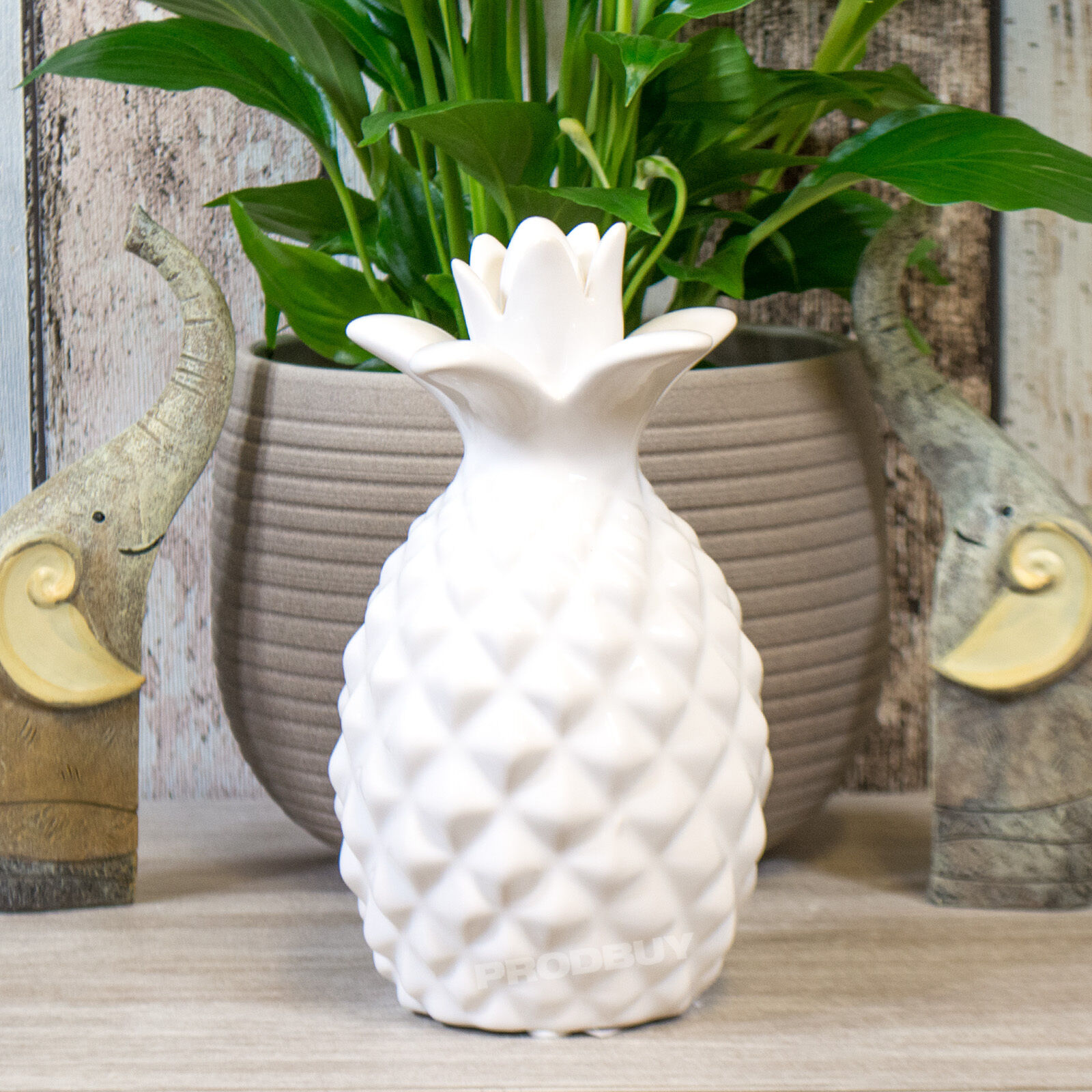 18cm white pineapple fruit modern ornament decorative item for Contemporary ornaments for the home