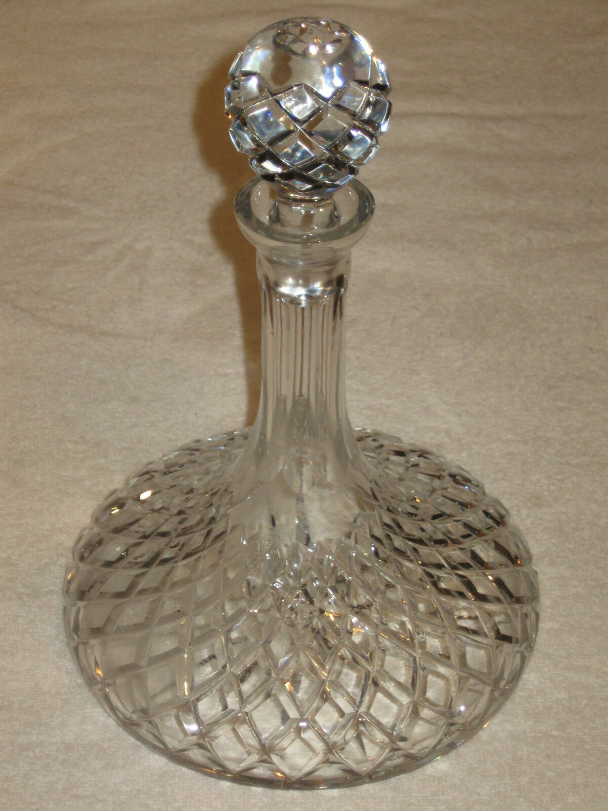 how to clean a cloudy crystal decanter