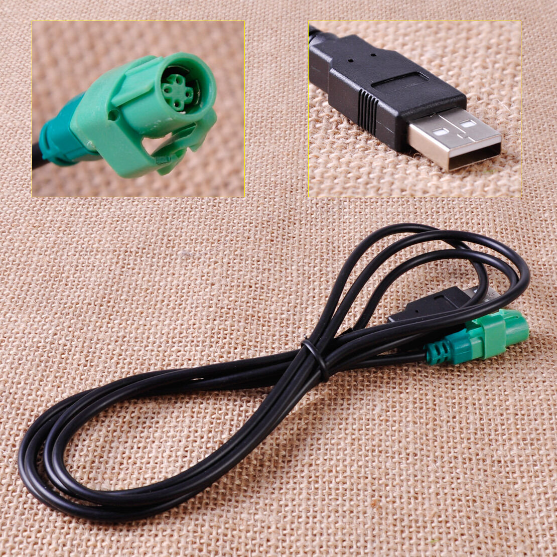 4 Pin Wire Harness Usb Male Head Cable Aux Adapter Fit For Vw Golf 1 Of 4only 5 Available