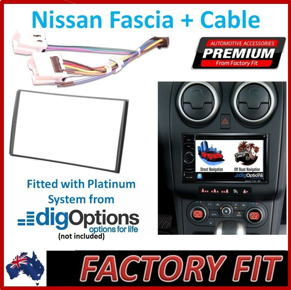 Radio Dash Panel For Nissan Patrol Navara X Trail Pathfinder Stereo Wiring Harness 1 Of 2only 3 Available See More