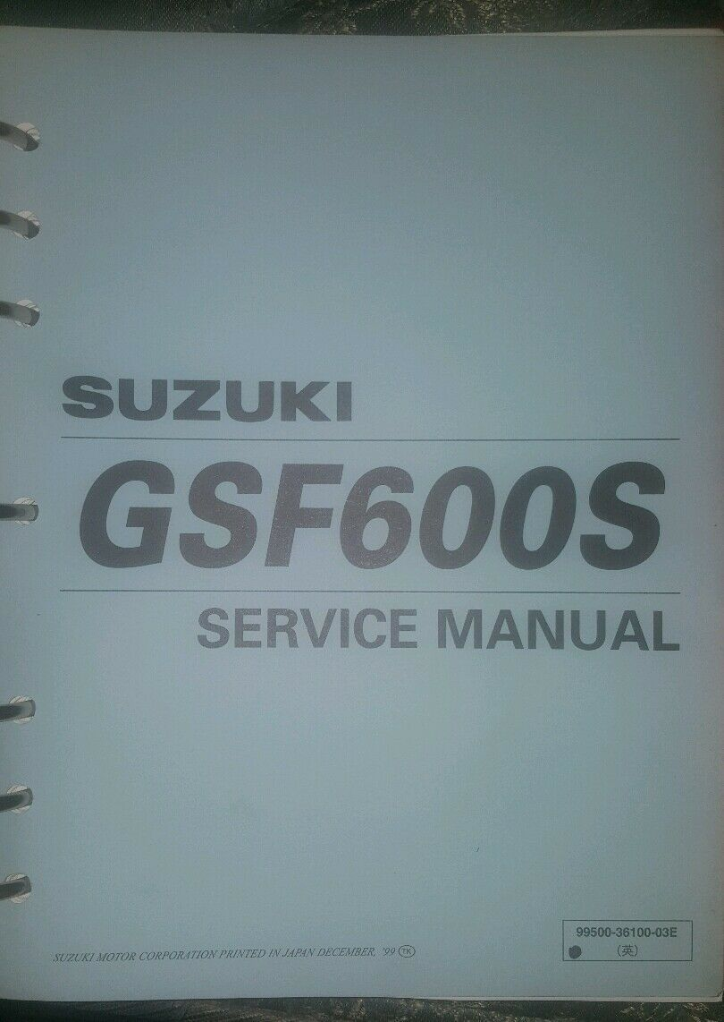 OEM Suzuki Service Maintenance Shop Repair Manual Book Bandit GSF600  GSF600S GSF 1 of 5Only 1 available ...