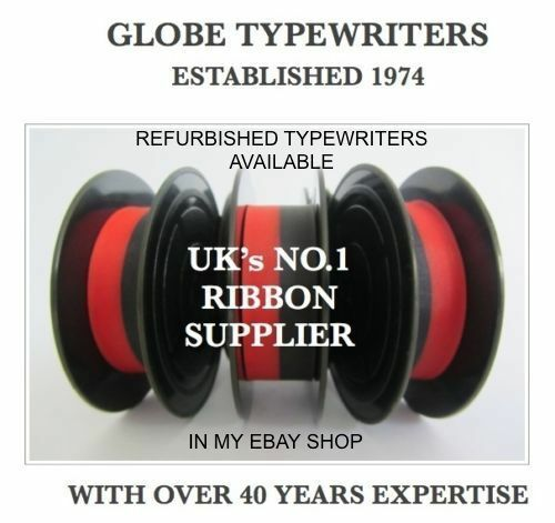 3 x 'OLYMPIA MONICA'  *BLACK/RED* TOP QUALITY *10 METRE* TYPEWRITER RIBBONS