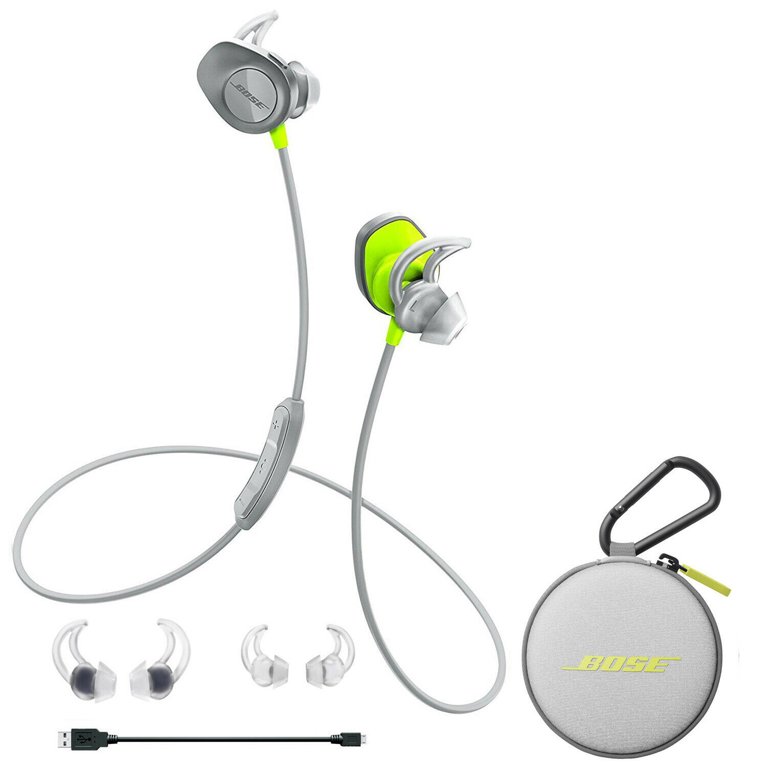 Bose Soundsport Wireless In Ear Headphones Nfc Citron Free 2 Earphone Navy Day Shipping 1 Of 6 See More