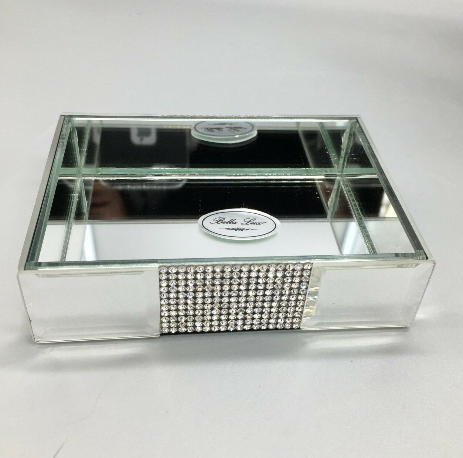 Bella Lux Mirror Rhinestone Crystal Soap Dish Bathroom Bath Vanity Accessory New 1 Of 6only 2 Available