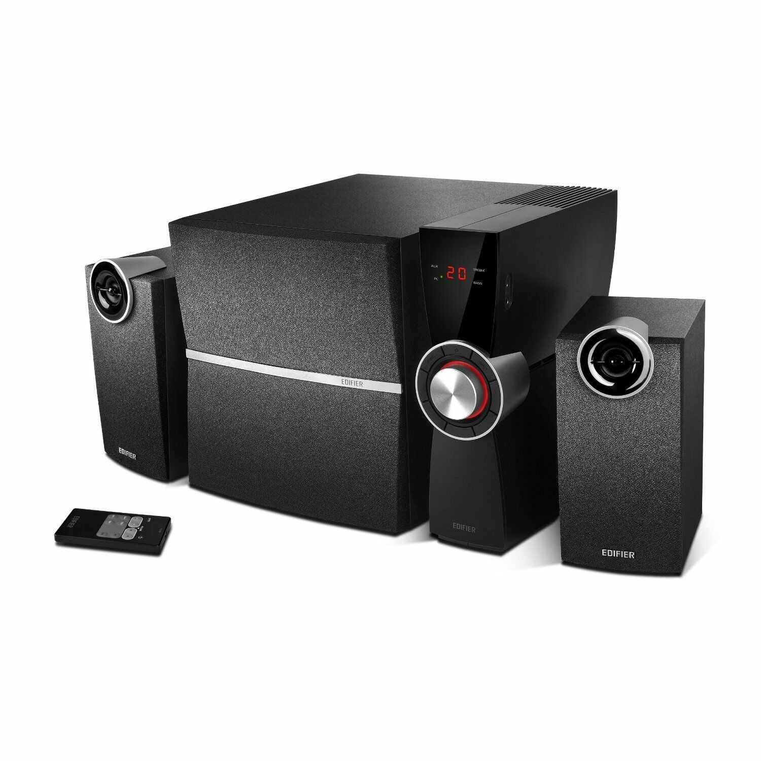 edifier c2x 2 1 soundsystem mit 2x 9w satelliten und 1x 35w subwoofer schwarz eur 89 80. Black Bedroom Furniture Sets. Home Design Ideas