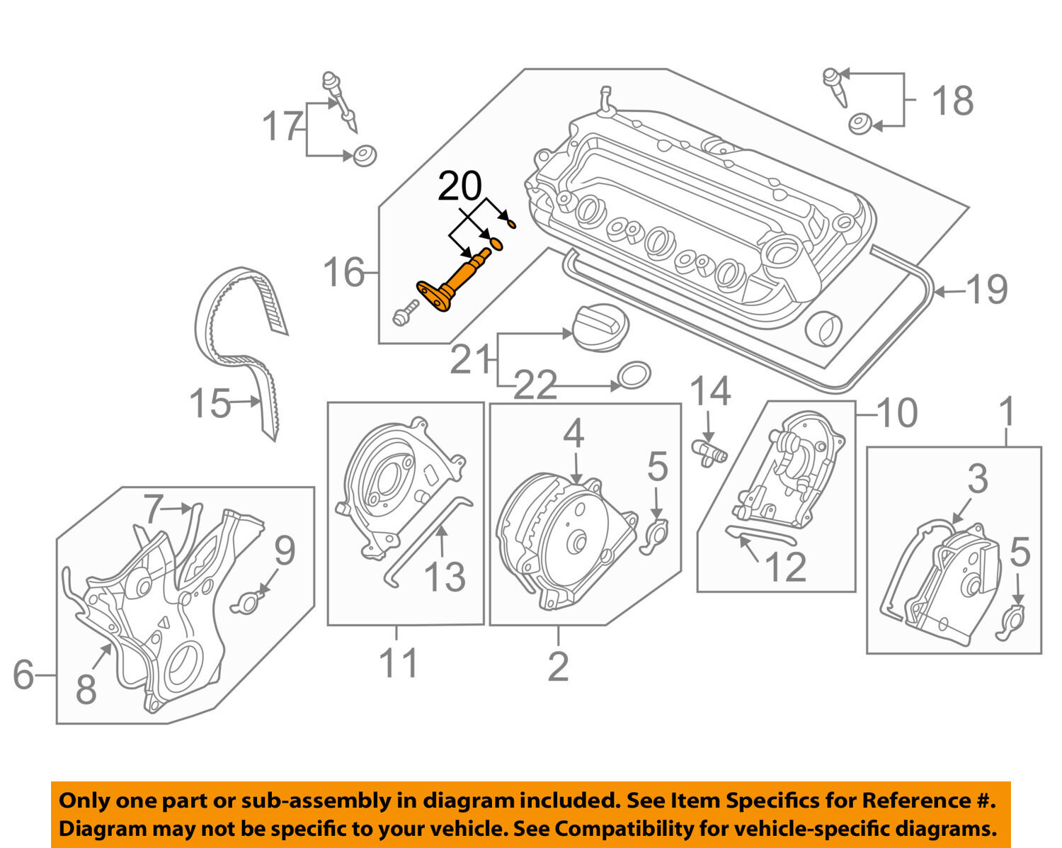 3 7l Acura Engine Diagram Electrical Wiring Diagrams Honda Oem 07 13 Mdx V6 Pcv Valve 17130ryea01 35 79 Ford Mustang