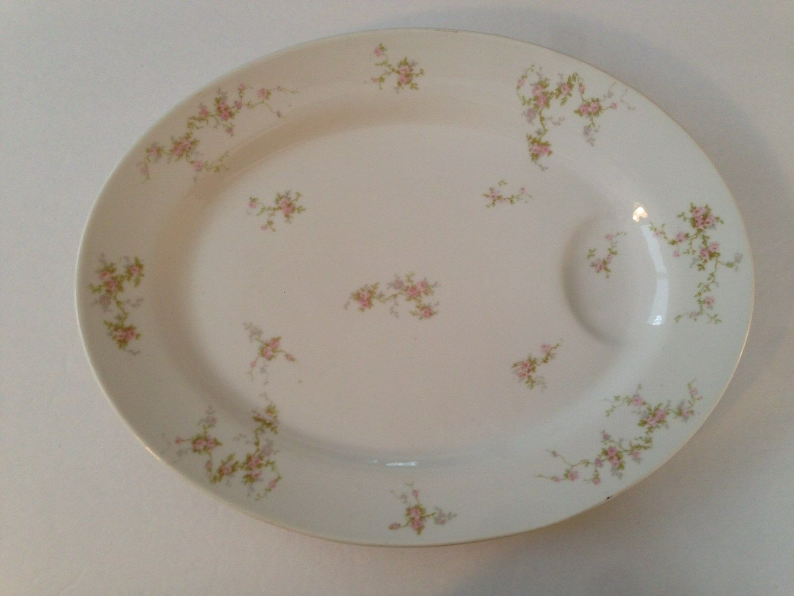 Theodore Haviland Limoges China Pink Spray Roses 16 Oval Serving