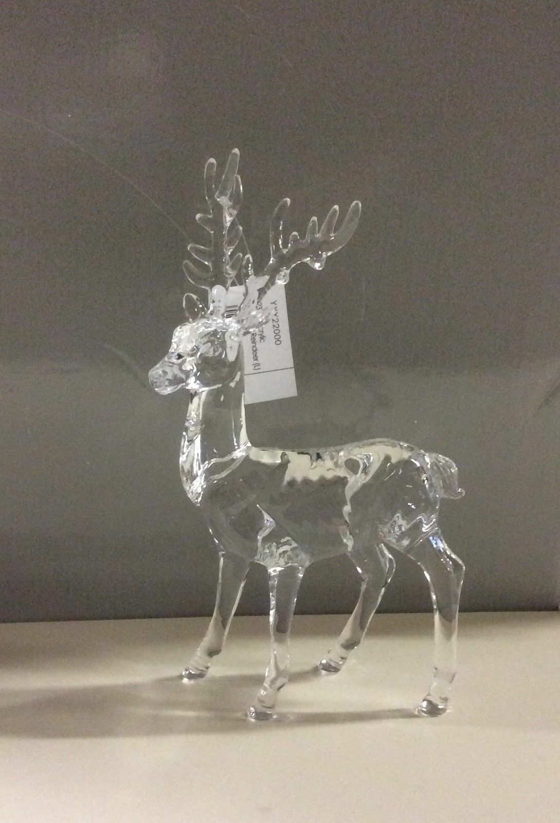 New 23cm acrylic standing reindeer christmas decoration for Acrylic decoration