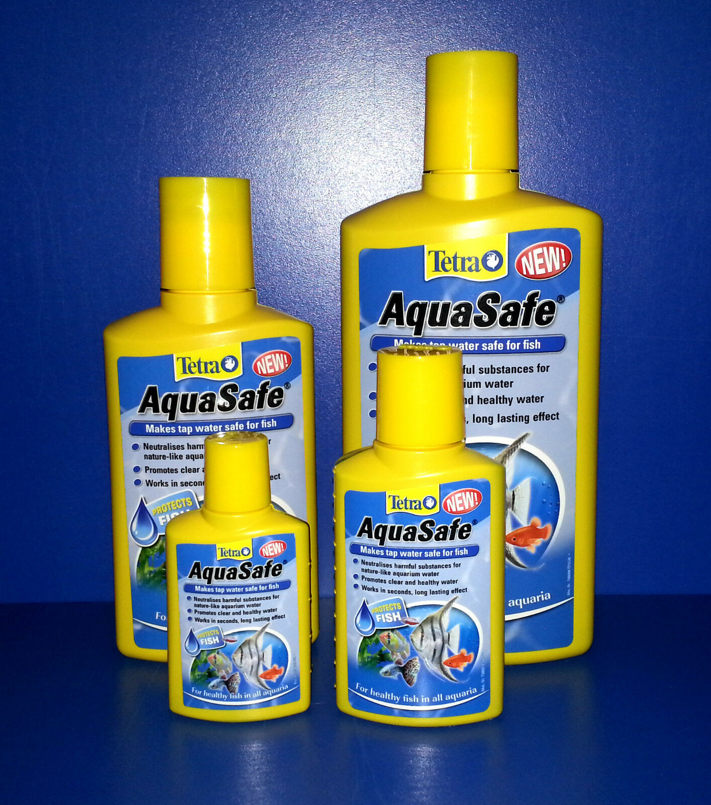 Tetra Aqua Safe Makes Tap Water Healthy & Clear For Fish Removes Chlorine