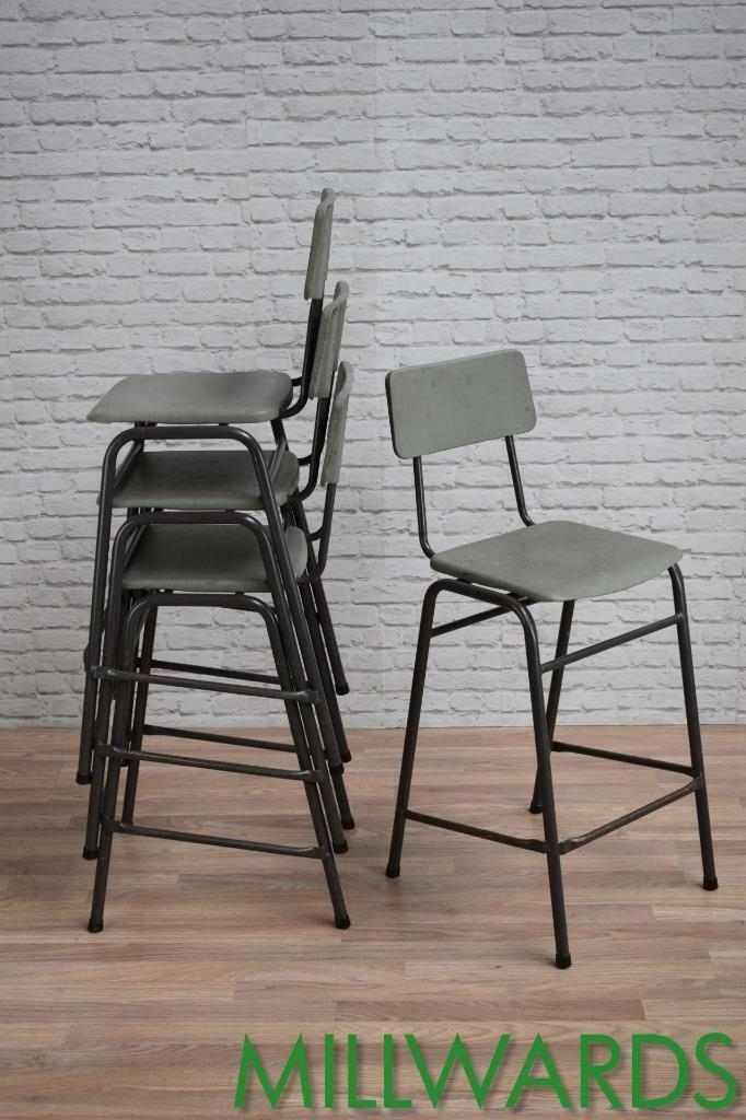 Vintage Industrial Remploy Cafe Bar School Lab Art Stools Chairs 20 AVAILABLE