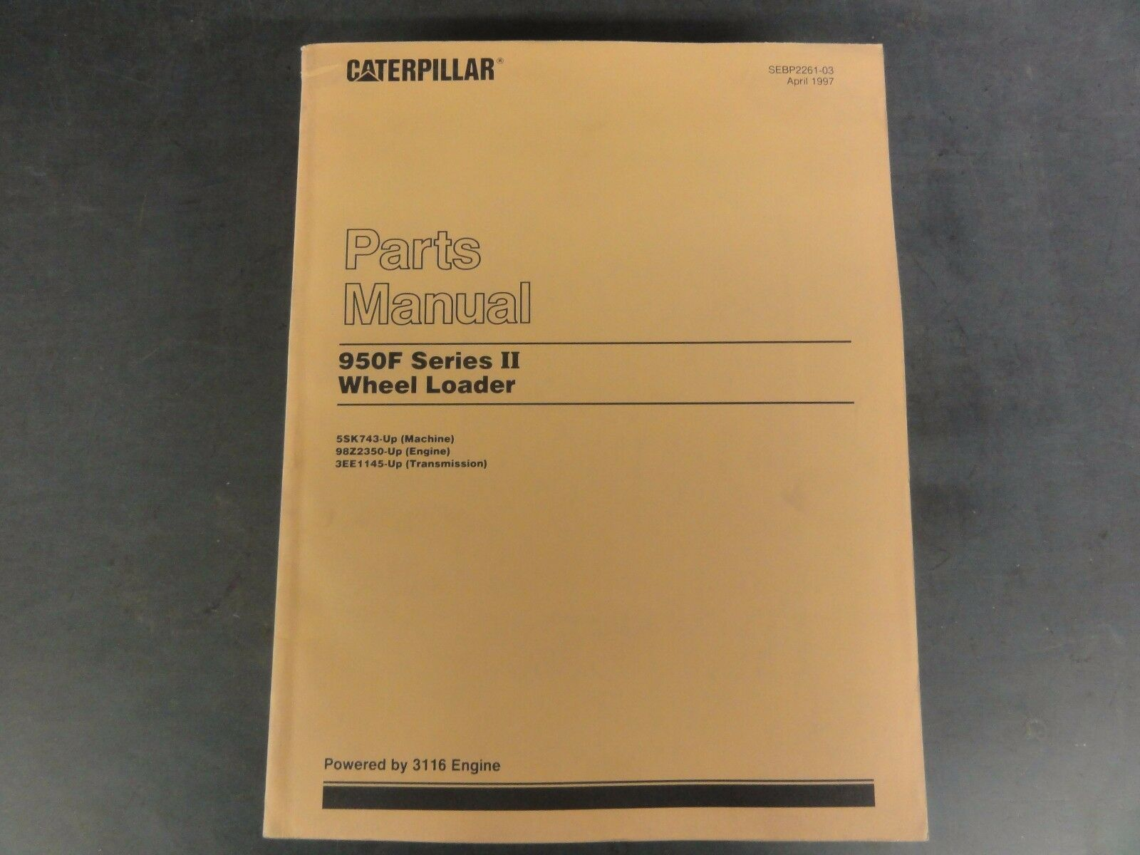 Caterpillar 950F Series II Wheel Loader Parts Manual 5SK743-Up 1 of 6Only 1  available ...