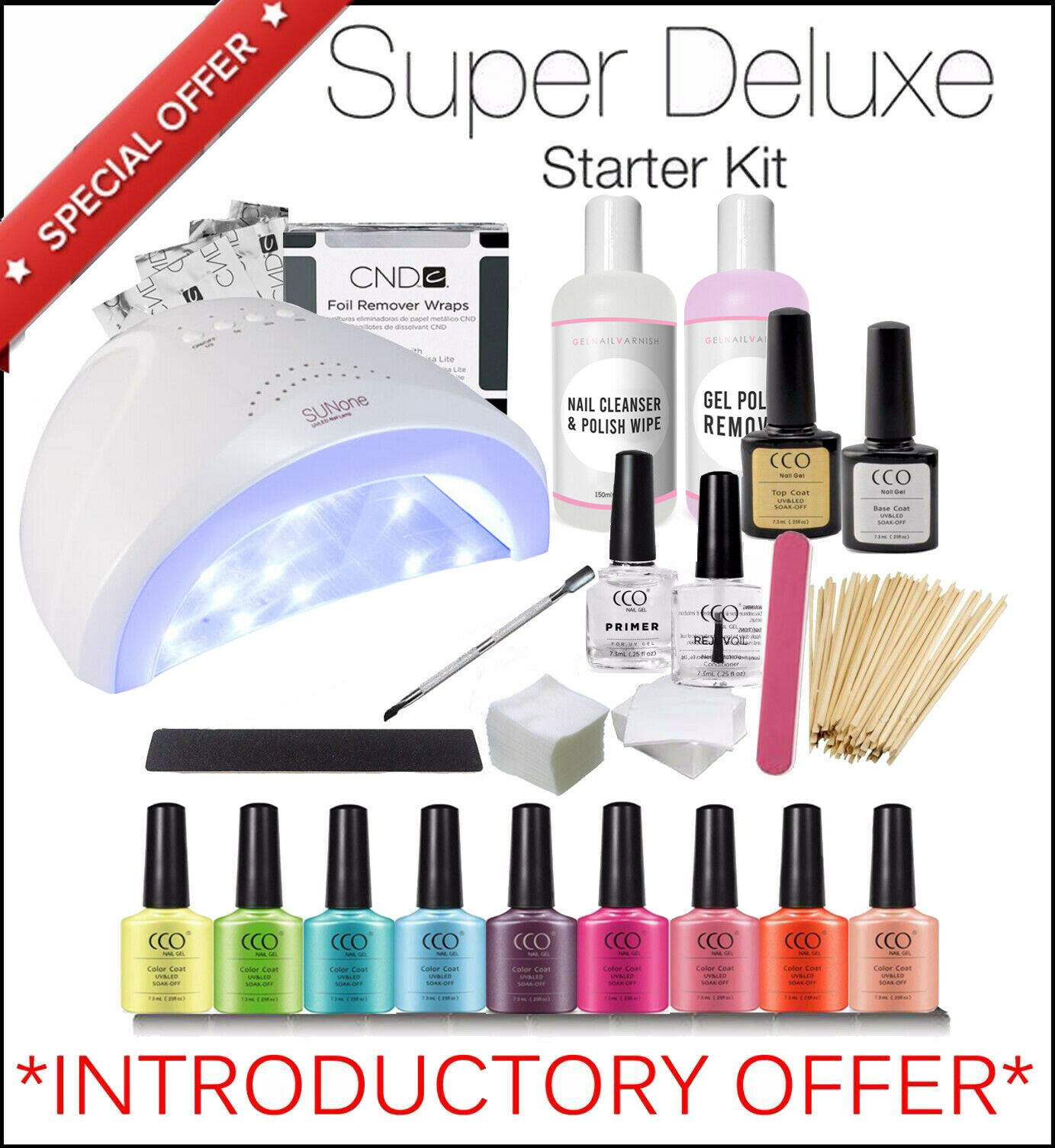 Uv Gel Nail Polish Starter Kit: SUPER DELUXE CCO Starter Kit UV Led Gel Nail Polish Set