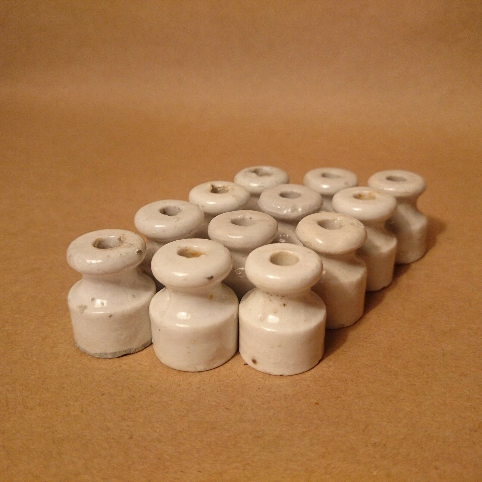 White Porcelain SMALL CERAMIC INSULATORS