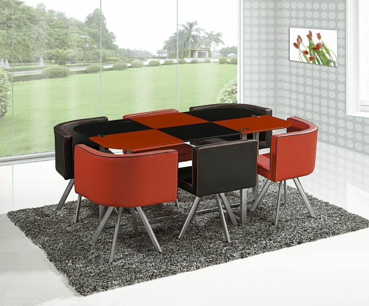 Modern Glass Dining Table And 6 Chairs PicClick UK