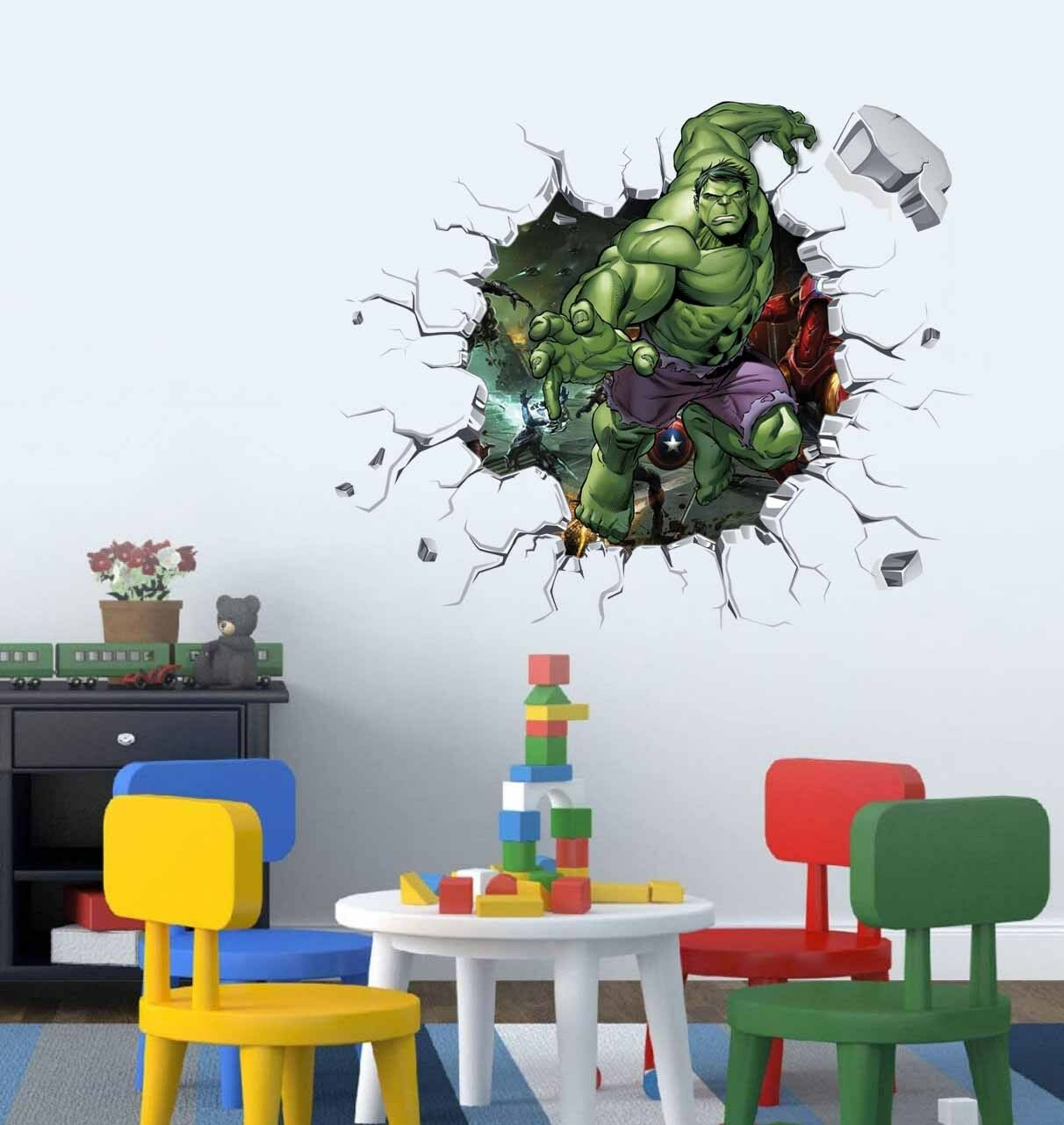 Etonnant The Hulk Smash Wall Art Decal Avengers Wallpaper For Kids Bedroom Decor  Sticker 1 Of 4FREE Shipping The Hulk ...