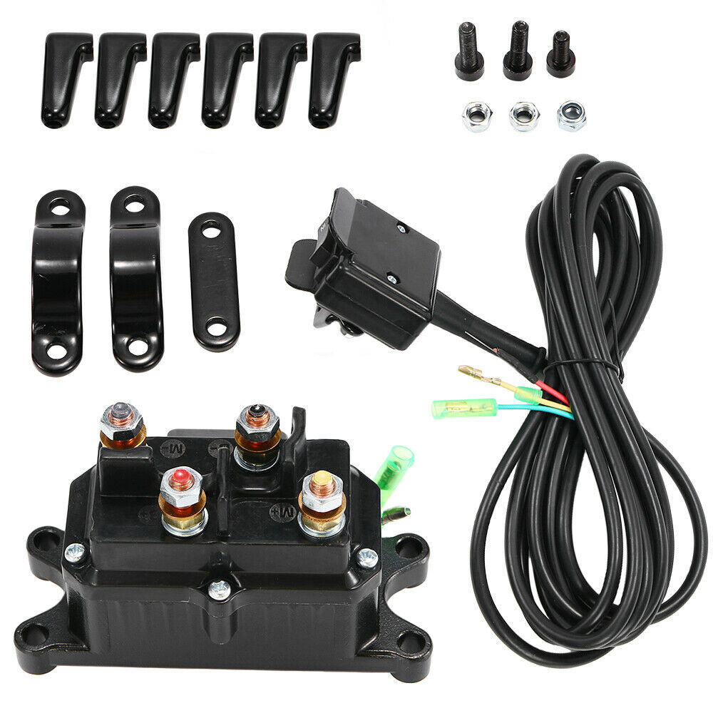 12v Atv Utv Solenoid Relay Contactor Winch Rocker Thumb Switch Wiring Combo Wi 1 Of 12free Shipping