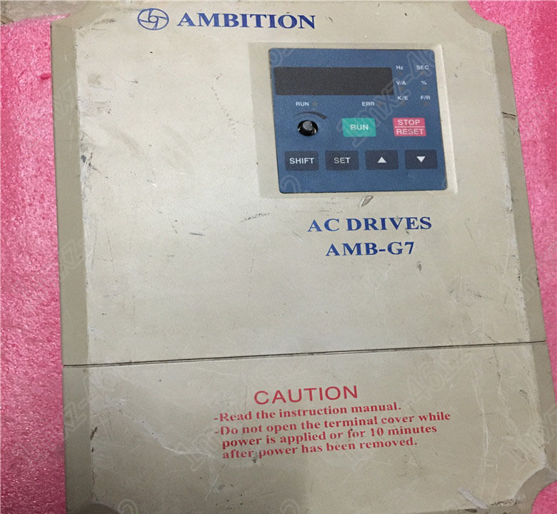 1pc used ampang letter frequency converter amb g7 7r5t3 7 5kw 380v rh picclick com