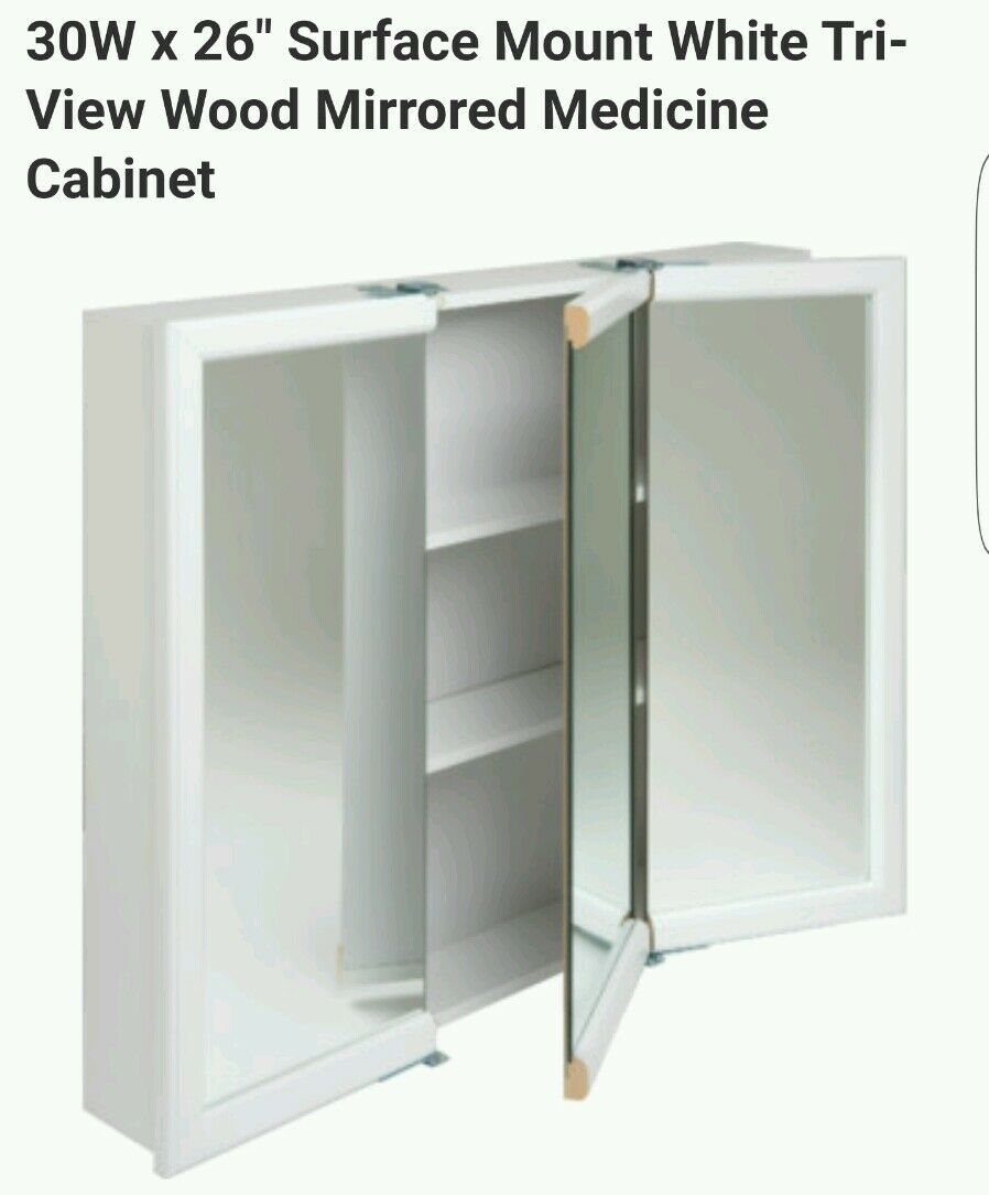 100 design house concord 30 x 30 surface mount medicine cab