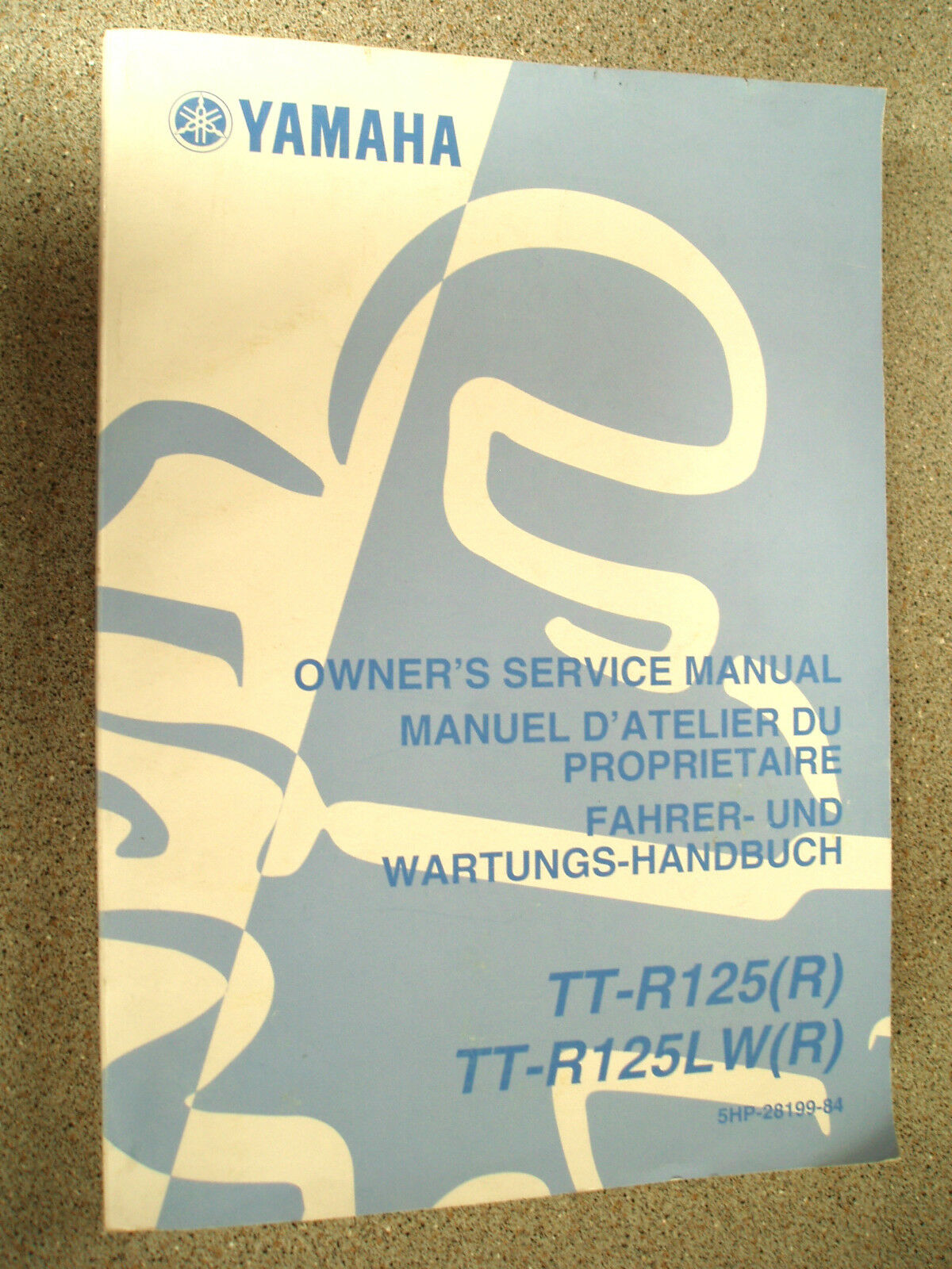 Used Genuine Yamaha TT-R125 TT-R125LW Service Manual 5HP-28199-84 1 of  1Only 1 available ...