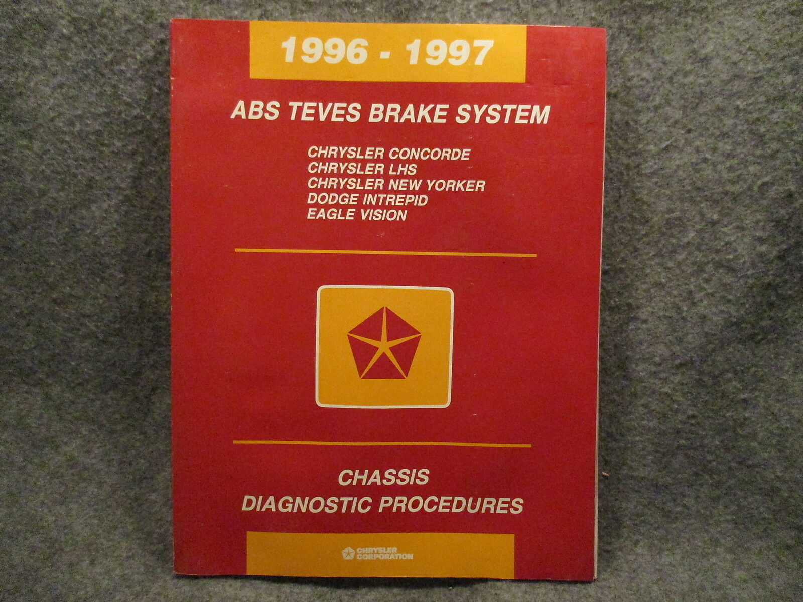 1996-1997 Chrysler Concorde LHS New Yorker ABS Teves Brake Manual Guide  Y445 1 of 4Only 1 available ...