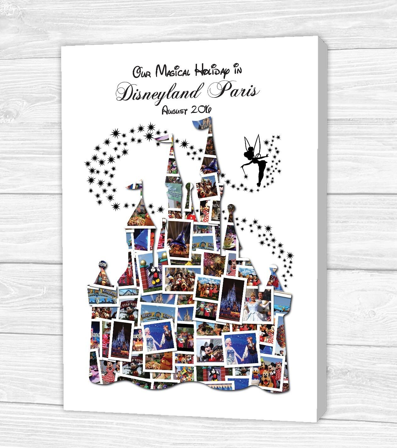PERSONALISED DISNEY CASTLE Photo Collage Canvas, Print or Digital ...