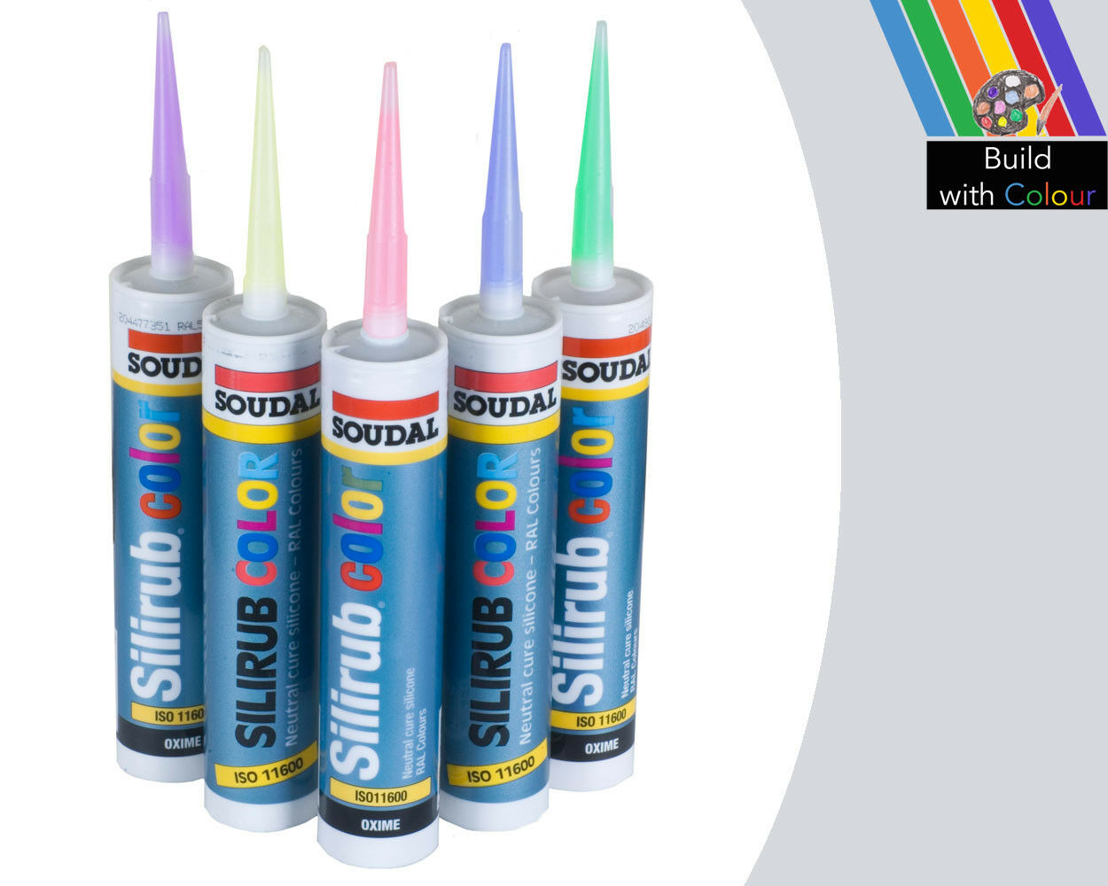 Light Grey Colour Silicone Sealant Soudal 310ml Ral 7035 Indoor