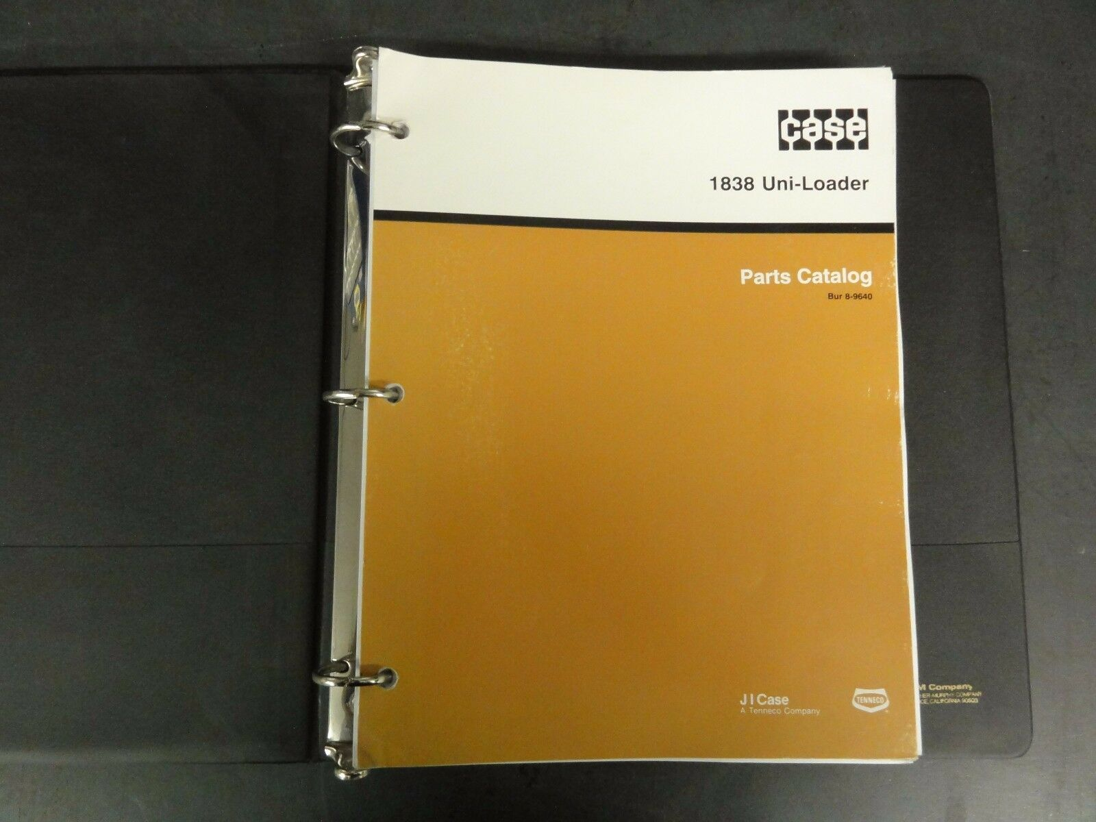 Case 1838 Uni-Loader Parts Catalog Bur 8-9640 1 of 10Only 1 available ...