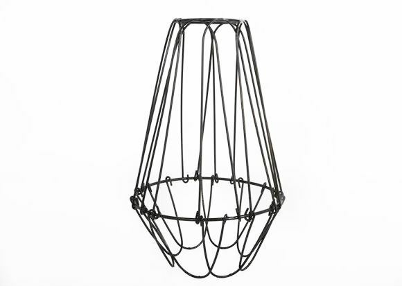 small cage wire lamp shade elegant vintage interior design