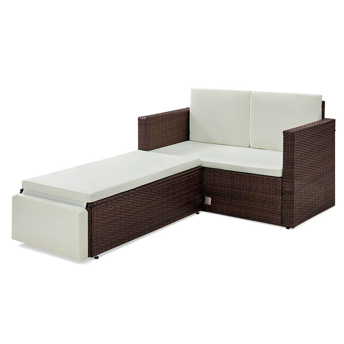 poly rattan lounge braun sofa garnitur garten polyrattan sitzgruppe gartenm bel eur 179 90. Black Bedroom Furniture Sets. Home Design Ideas